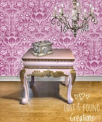 Pink ballet slipper with gold end table Dalton, 30721