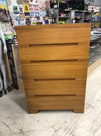 SOLID WOOD VINTAGE MID CENTURY MODERN DRESSER CHEST OF DRAWERS INFO IN AD 2265 mi