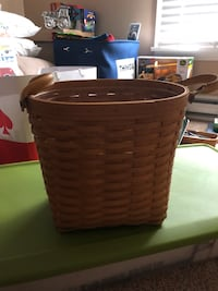 Longaberger small oval waste basket with protector  Brunswick