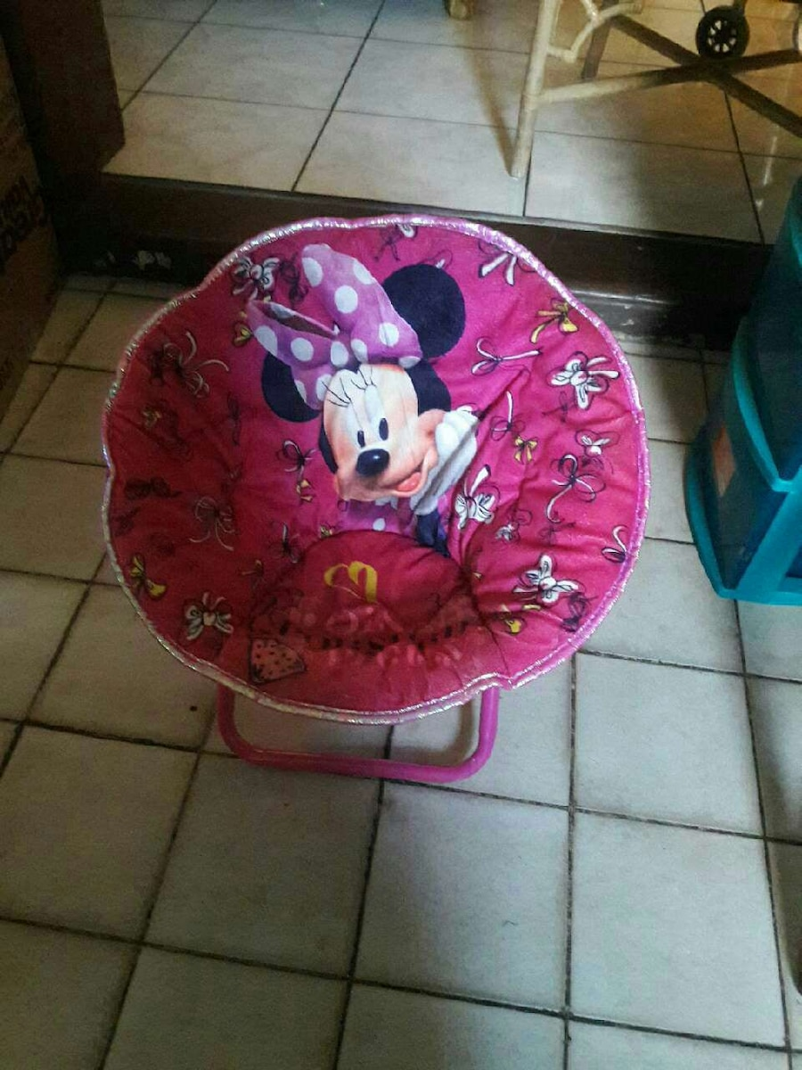 pink Minnie mouse papasan chair Miramar 33025 & Used pink Minnie mouse papasan chair for sale in Miramar - letgo