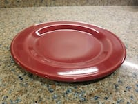 Workshops of Gerald E Henn red jewel dinner plate  Montclair, 22025