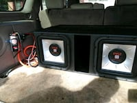 black and gray Pyle vehicle subwoofer with enclosu Moultrie, 31768