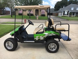 Custom Lifted EZGO-Golf Cart