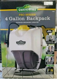 white GroundWork 4-Gallon hydraulic backpack box River Oaks, 76114