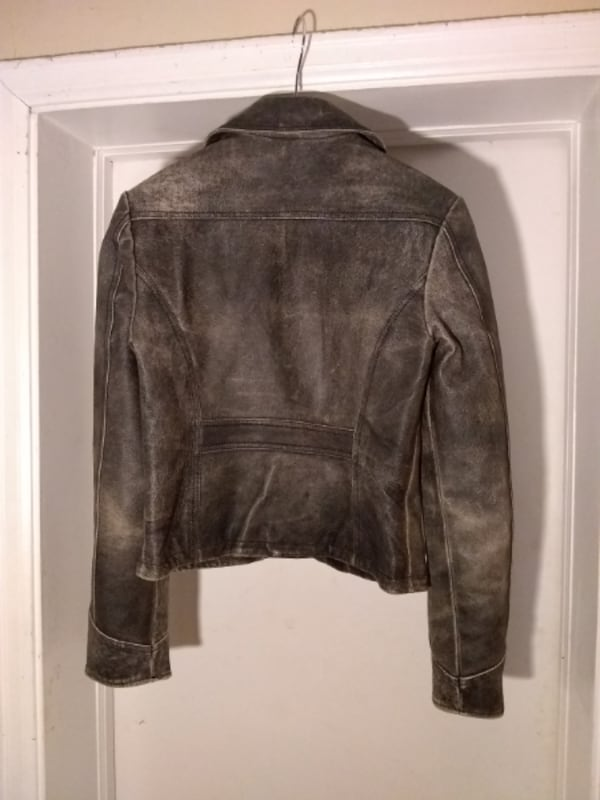NEW Leather Distressed Motorcycle Jacket by Jacob d2b122d2-e017-4814-952f-8225f15accbd
