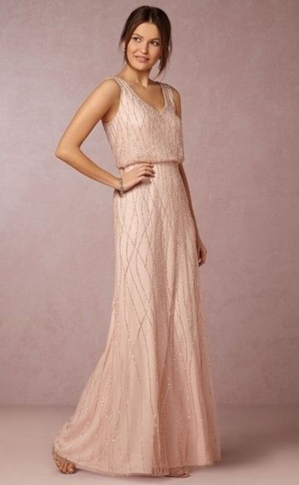 ANTHROPOLOGIE BHLDN BLUSH DRESS ADRIANNA PAPELL b8cefe88-010c-42e3-b61c-86b024f0ebb4