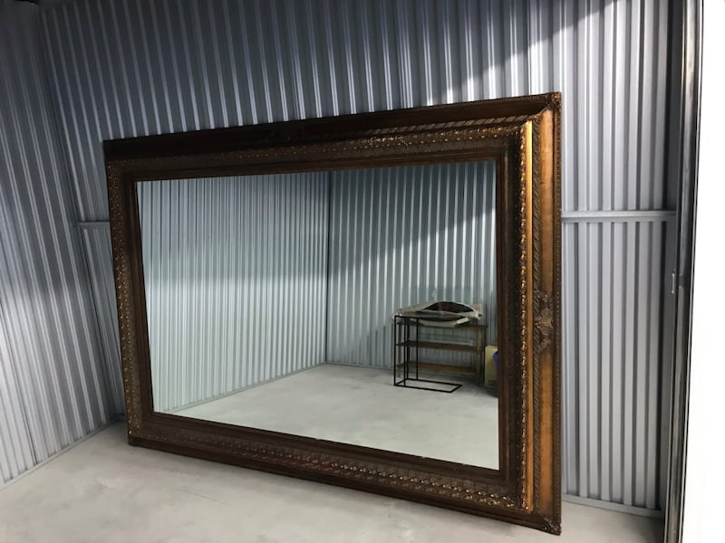 Incredible center piece mirror measuring  7.5 x5 feet.One of a kind.  631bbf40-1d96-432e-b96e-7d5dd03dc539