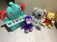 Toys new with tags and a gently used piano Toronto