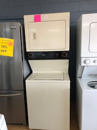 "GE beige stacked washer and dryer unit 27"" Woodbridge, 22191"