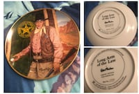 Set of 10 Franklin Mint John Wayne Collector Plates Robert Tenanbaum
