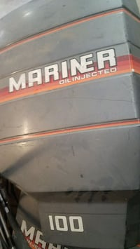 Mariner oil injected motor boat