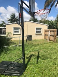 black and white basketball hoop Fort Lauderdale, 33305