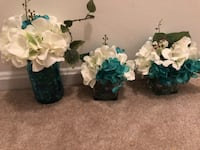 Turquoise/ teal and white centerpieces Fairfax, 22030