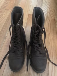 Brown Army Style Lace Up Boots Markham, L3R