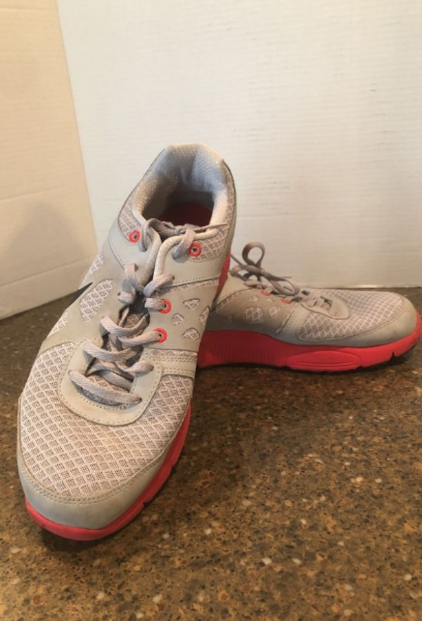 Nike lunar forever gray and red shoes size 10