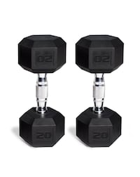 Barbell Coated Hex Dumbbells, Set of 2 20lbs New York, 11214