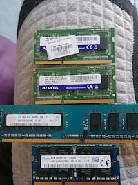 three SODIMM and DIMM RAM sticks Brampton, L6S 5Z7