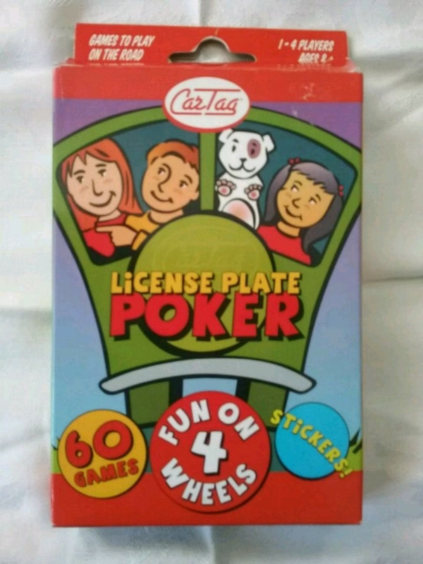 Traveling License Plate Poker Card game