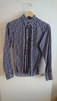 Small Men's Small Floral Pattern Long Sleeve Shirt London