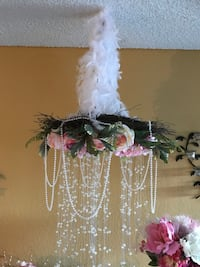 White and pink flower wreath Aliso Viejo, 92656