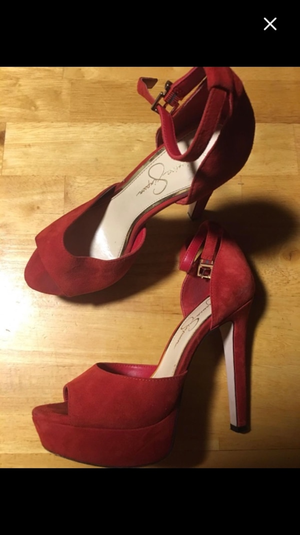 fb1dbb73033 Used Jessica Simpson  Red Suede High Heels Size 7  10 for sale in McDonough  - letgo