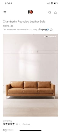 Awesome Used Cloud Leather Sofa For Sale In Austell Letgo Pabps2019 Chair Design Images Pabps2019Com