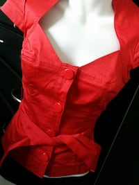 Guess Bright Red Top (Xs) Vaughan, L6A 3P3