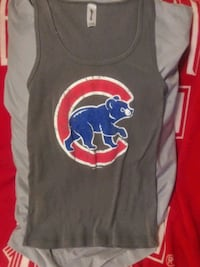 Chicago cubs womens tank top rustic look size medium
