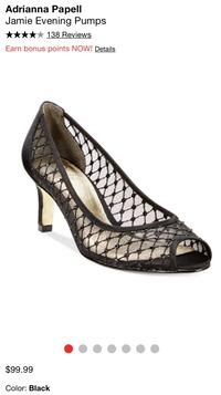 Party Shoes! Adrianna Papell Black Mesh 9.5 Nashville, 37211
