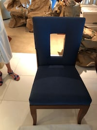 Blue and black padded chairs (4) and table Las Vegas, 89109