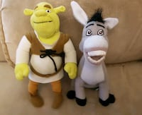 Shrek and Donkey Plushies Montréal, H4G