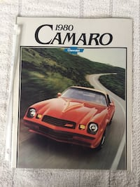 Original vintage 1980 Chevy Camaro dealer show room brochure Milton, 19968