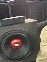 black and red Dual subwoofer Manton, 49663