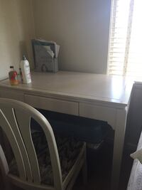 Wooden Frame Study Table with chair Vancouver, V6K