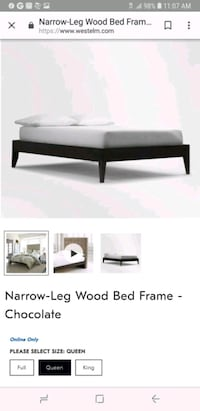 Wedt Elm platform bed frame AND mattress queen pil Centreville, 20121