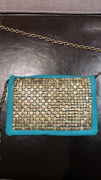 Urban Outfitters teal and gold crossbody bag Toronto, M6J 2K5