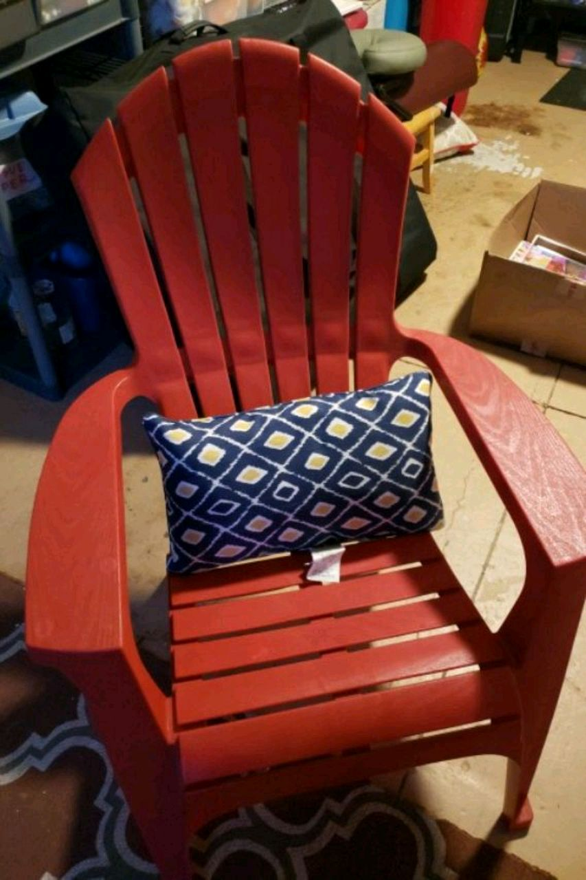 Used Red Plastic Adirondack Chairs For Sale In Tampa   Letgo