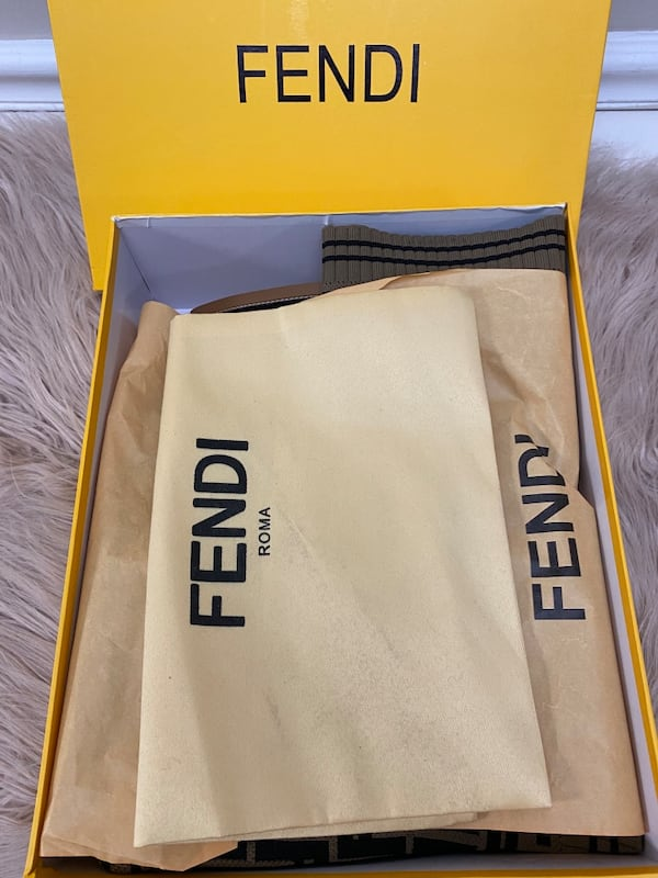 Fendi Monogram Sock Boots size 38/7.5/8 6