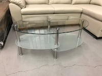 Brand new oval tempered glass coffee table warehouse sale  多伦多, M1V 4W6