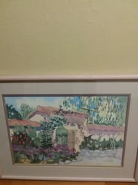 Carmel mission print signed Linda Adams kesler Germantown