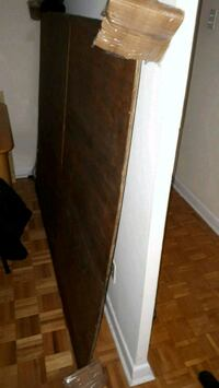 rectangular brown wooden framed mirror 542 km