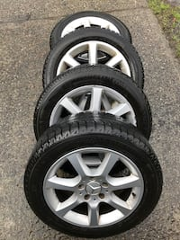 Mercedes OEM rims and winter tires  Richmond, V7A 3P2