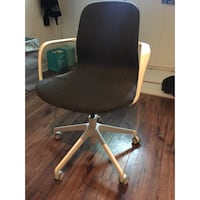 Black and gray rolling armchair ikea langjfall Guelph, N1G