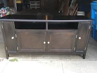 "TV Stand - 60"" wide- black and great condition SF, 94112"