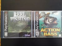 Two PS1 games Reel Fishing & Action Bass