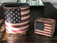 Americana Oval Container and Storage Box