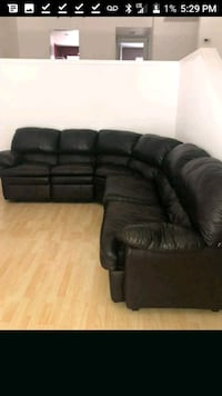 black leather 3-seat recliner sofa Bakersfield, 93305
