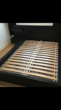 IKEA double full bed frame with a table  Montréal, H4P 1K8