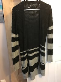 knitted black and grey cardigan Springfield, 22150