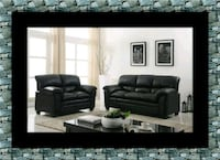 Black bonded sofa and loveseat free delivery 53 km